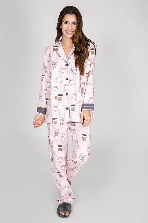 Rise & Grind Flannel PJ Set