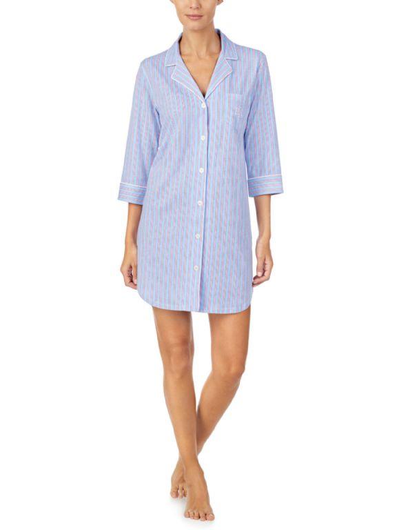 Knit Notch Collar Sleepshirt 31776