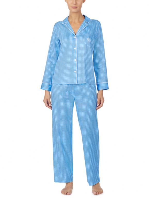Sateen Notch Collar Pyjama Set 91777