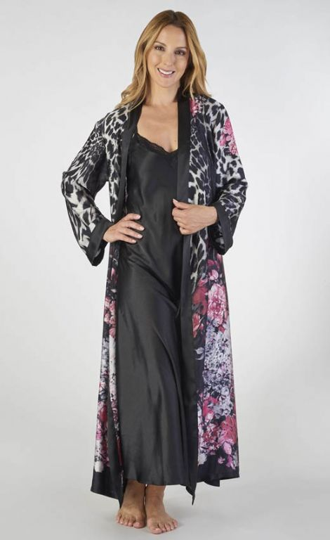 Animal Print Nightdress and Wrap Set GL2786